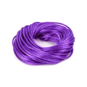 Purple 2mm Rattail Satin Cord 10metres