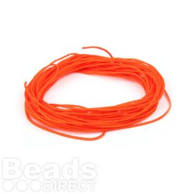 Satin Cord 0.7mm Orange 5m
