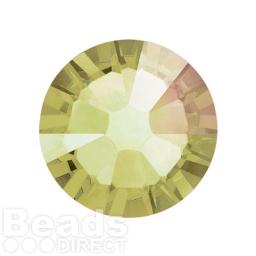 2088 Swarovski Crystal Flat Backs Non HF 7mm SS34 Crystal Luminous Green F Pk144