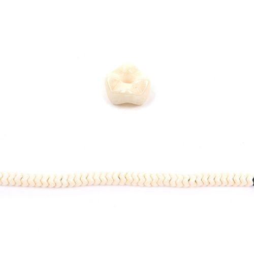Chalk Beige Luster Czech Glass Snake Bead 6mm Pk40