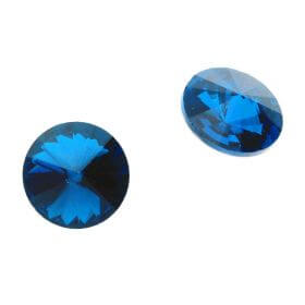 Bonny™ / crystal glass / rivoli / 18mm / Capri Blue / 4pcs / Second