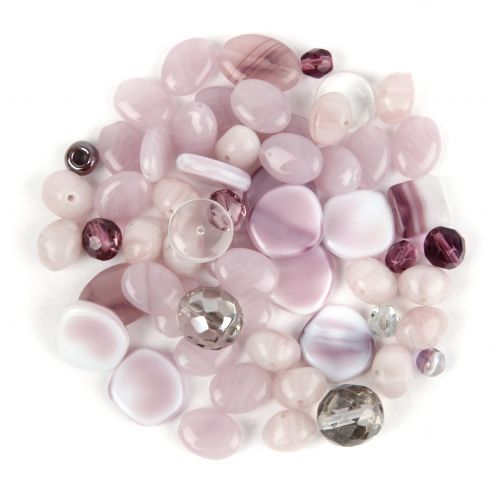 X-Czech glass bead mix lilac 50g