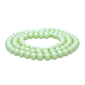SeaStar ™ / round / 10mm / light lime / 90pcs