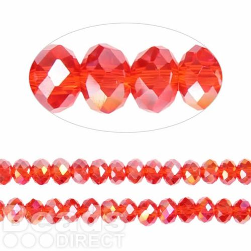 Essential Crystal Faceted 6mm Rondelle Siam AB 100pack