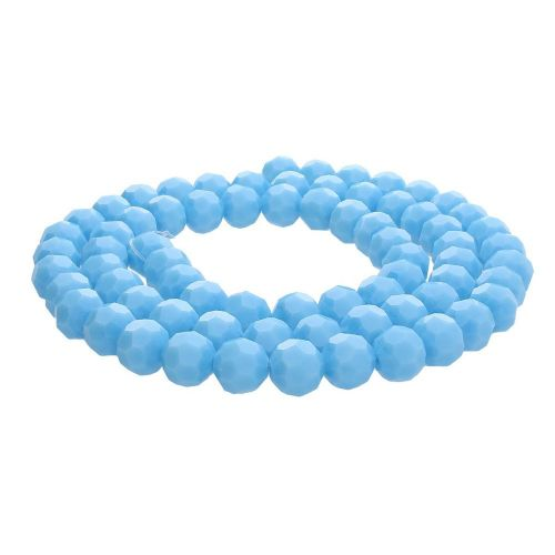CrystaLove™ crystals / glass / faceted round / 10mm / blue / lustered / 65pcs