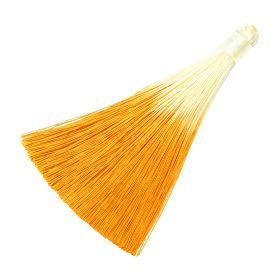 Tassel / viscose thread / ombre / wide braid / 100mm / width 10mm / orange / 1pcs