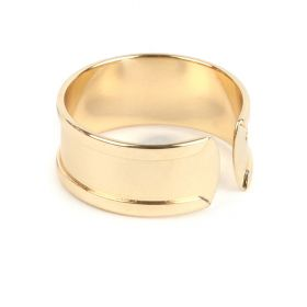 Gold Plated Ring Base For 5mm Cord Pk1