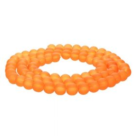 Frozen ™ / round / 8mm / neon orange / 105pcs