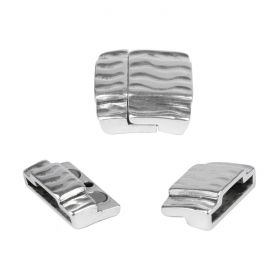 Antique Silver Zamak Magnetic Clasp 20+10x2mm 23mm Pk1