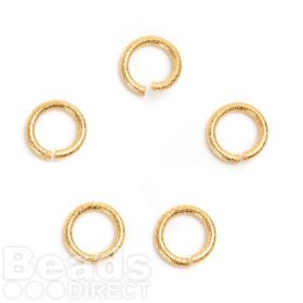 Gold Plated 13mm Large Diamond Cut Jump Rings 2mm Thick Pk5
