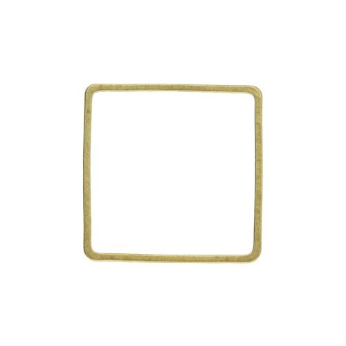 Square / geometric base / brass / 15x15mm / 12pcs