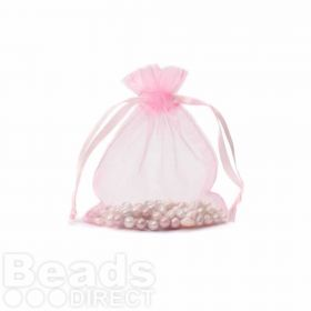 "Pink Organza Bag 3""x4"" Pack 5"