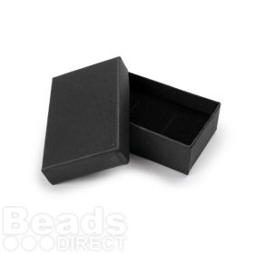 Black Small Rectangle Jewellery Box 5x8x2.5cm w/Foam Pad Pk1
