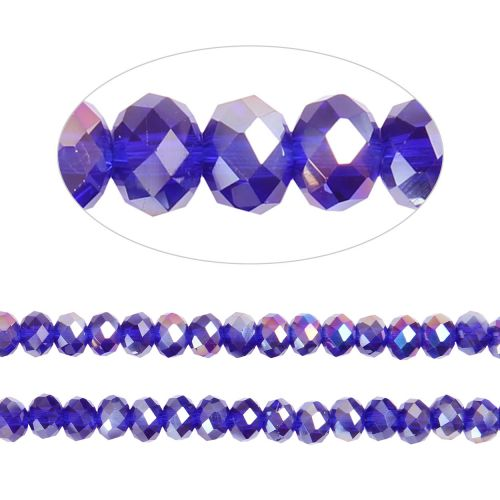 X- Essential Crystal Faceted 4mm Rondelle Cobalt AB 150pack