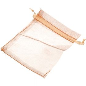Organza bag / 10x12cm / peach / 5pcs