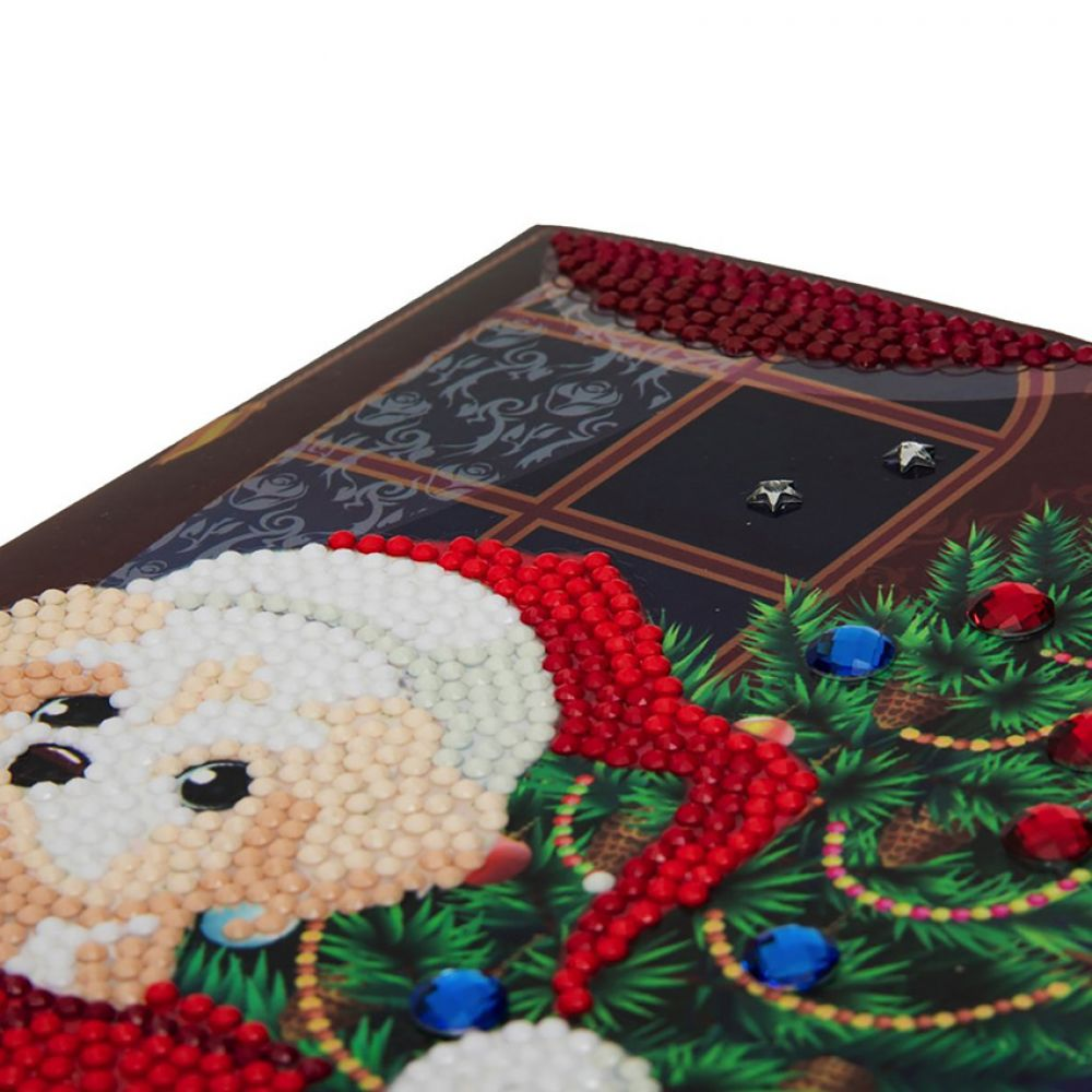 Puppy for Christmas Craft Buddy Crystal Card Kit