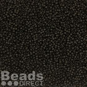 Toho Size 15 Round Seed Beads Opaque Frosted Jet 10g