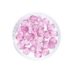 Firepolish ™ / 4mm / Coated / Pink / 40pcs