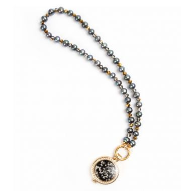 Gemini Gold Pearl Locket
