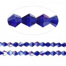 Essential Crystal 6mm Bicones Cobalt AB Pk50