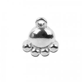 Antique Silver Zamak Small Dog Paw Charm 10x12mm Pk1
