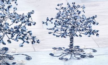Frosty Bead & Wire Tree
