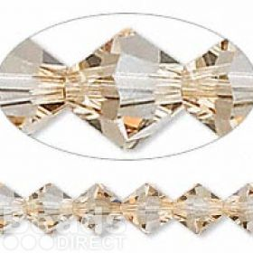 5328 Swarovski Crystal Bicones Xillion 6mm Golden Shadow Pk24