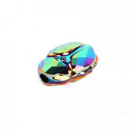 5728 Swarovski Crystal Scarab Bead 12mm Crystal Scarabaeus Green (2 Coat) Pk1