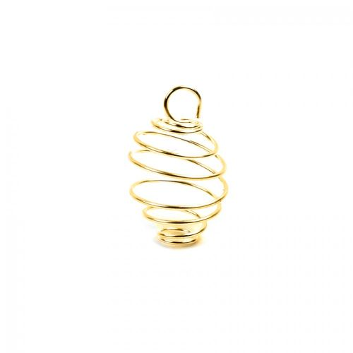Gold Plated Spiral Coil Bead Cage 5x16mm Pk10