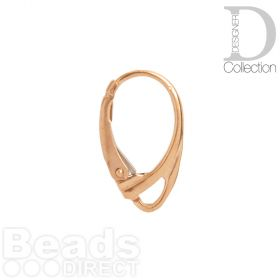 Rose Gold Plated Ear Wires Lever Back 18mm with Loop 1xPair