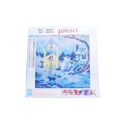 Diamond painting / mosaic / winter / 20x20cm / 1pcs