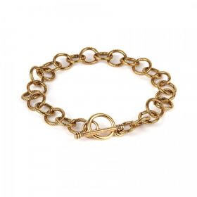Nunn Design Antique Gold Link Bracelet Chain with Toggle 21cm Pk1