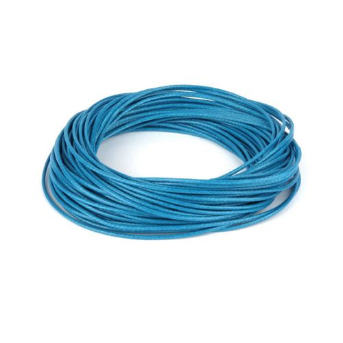 X Shiny Coated Braiding Cord 1mm Blue 10m