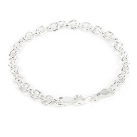 Sterling Silver 925 Lightweight Cable Bracelet Chain w/Clasp 5.1mm 7.5inch