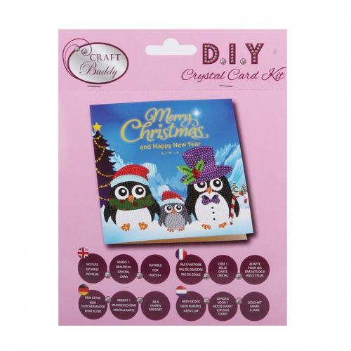 X-Beads Direct Penguin Family Crystal Card Kit