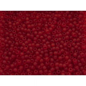 TOHO ™ / Round 11/0 / Transparent Frosted / Ruby / 10g / ~ 1200pcs