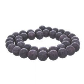 Jade / round / 12mm / grey-navy / 34pcs