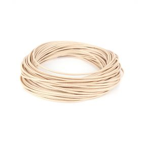 Shiny Coated Braiding Cord 1mm Cream 10m