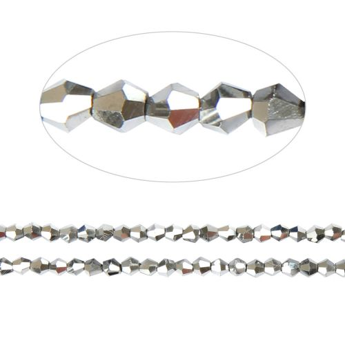 """X"" Essential Crystal 4mm Bicones Silver AB Pk120"