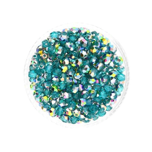 Firepolish ™ / 3mm / Vitral / Teal / 40pcs