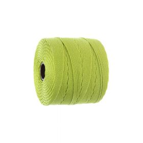 BEADSMITH ™ / thread SuperLon Fine / nylon / Tex 135 / Chartreuse / 0.5mm / 108m