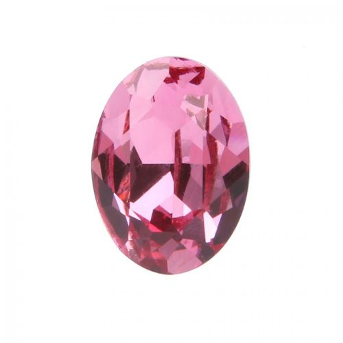 4120 Swarovski Crystal 13x18mm Oval Fancy Stone Rose F Pk1