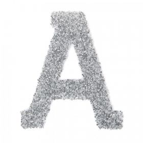 Swarovski Crystal Letter 'A' Self-Adhesive Fabric-It Transparent CAL Pk1