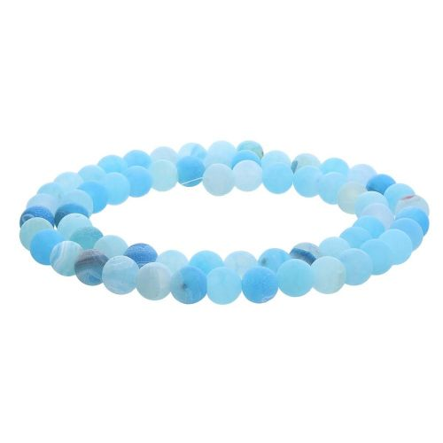 Weathered Agate / round / 4mm / blue / 95pcs