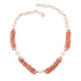 Beads Direct Chain Maille Starter Kit - Rose Gold/Cream