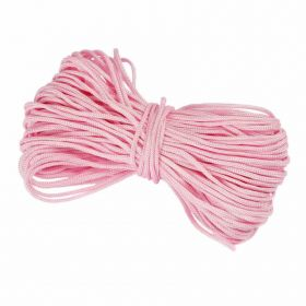 Waxed Nylon Cord 1.5mm x 9m Pink