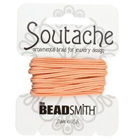 Peach Polyester Soutache Cord Beadsmith 3yds