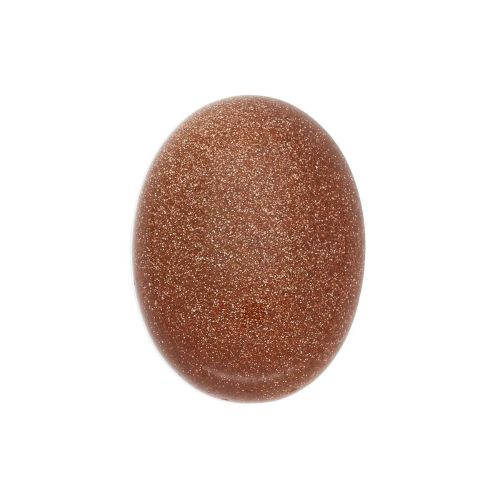 Gold sandstone (synthetic) / cabochon / oval / 10x14x5mm / 1pcs