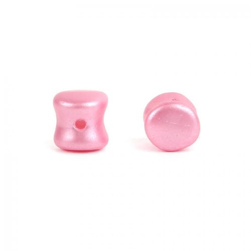 X- Preciosa Czech Pressed Glass Pellets Frosted Pink 5mm Pk25