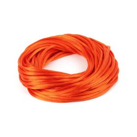 Orange 2mm Rattail Satin Cord 10metres